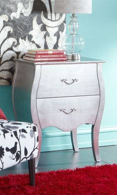 Pier 1 Camellia Bombe Chest is a gleaming beauty