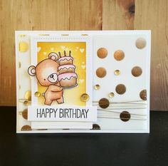 card critters bear cake gifts MFT beary special birthday Die-namics #mftstamps -   Instagram photo by @sarahs_cards • 116 likes