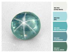 blue-green star sapphire