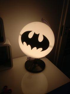 Batman light. New life for old globe. Nightlight for my own little Batman :)