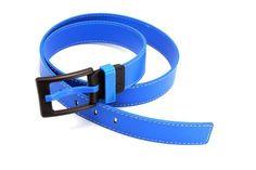 Blue/Yellow/Red Faux Leather Belt, Dark Jeans / Slacks
