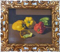 Vittorio Gussoni (Milano 1893-1968) - Peperoni - still life with peppers.