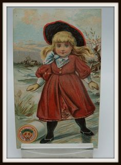 Advertising Trade Card Chadwicks Thread by antiquesarcadia on Etsy, $5.00