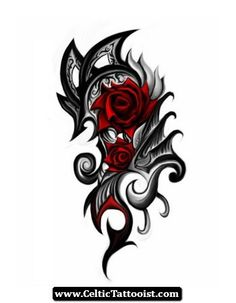 Rose Celtic Tattoo Designs 07 - http://celtictattooist.com/rose-celtic-tattoo-designs-07/