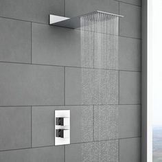 Milan Square Shower Package with Concealed Valve & Flat Fixed Shower Head
