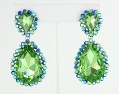 Green Earrings Green Pageant Earrings Green Prom Earrings  LIKE us on Facebook at www.facebook.com/LnMBling and visit our online store at www.LMBling.com pageant earrings | prom earrings | teardrop earrings | green earrings | lime earrings | lime colored earrings | neon green earrings Direct Link to Our Green Collection: http://www.lmbling.com/#!green/c1xh5