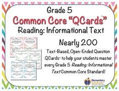 Grade 5 ELA Reading: