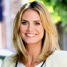 heidi klum hair: perfect mid-length cut