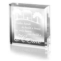 Kate Posh - It Takes Hand to Build a House, but Only Hearts Can Build a Home - Keepsake and Paperweight ** Read more reviews of the product by visiting the link on the image. (This is an affiliate link and I receive a commission for the sales)