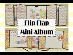 Mini Álbum Desplegable (Flip Flap) - TUTORIAL SCRAPBOOK | Luisa PaperCrafts - YouTube