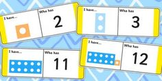 Fun and educational, loop cards are great for reinforcing your teaching on in maths. This set features number shapes for a little more familiarity during class. Can be played in groups or independently. Maths Eyfs, Eyfs Classroom, Maths Puzzles, Preschool Math, Fun Math, Teaching Math, Guided Maths, Year 1 Maths, Early Years Maths