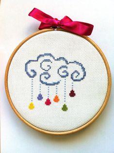 Cloud of rain counted cross stitch pattern by PrincesseNature