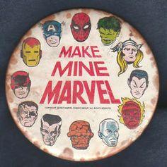 Marvel Comics pinback