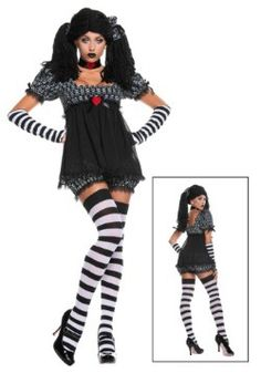 Plus Size Exclusive Sexy Gothic Rag Doll Costume