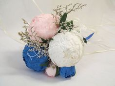 Bridal bouquetpaper flowerbridesmaids by Mazziflowers on Etsy