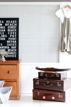 Old suitcases decor