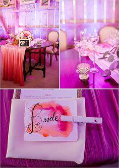 hot pink sweetheart table @weddingchicks