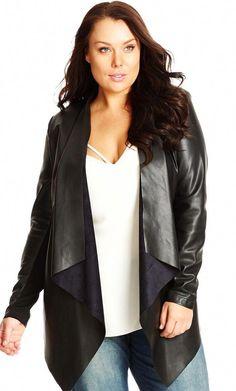 648310ce4bc City Chic Pleather Drape Jacket - Women s Plus Size Fashion City Chic -  City Chic Your Leading Plus Size Fashion Destination