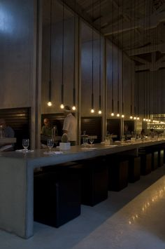 PSLAB have designed the lighting for the Workshop kitchen and bar in Palm Springs, California.