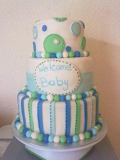 Pasteles de fondant para baby shower de niño - Imagui