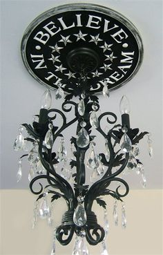 Believe in the Dream Round Chandelier Medallion in Multiple Colors
