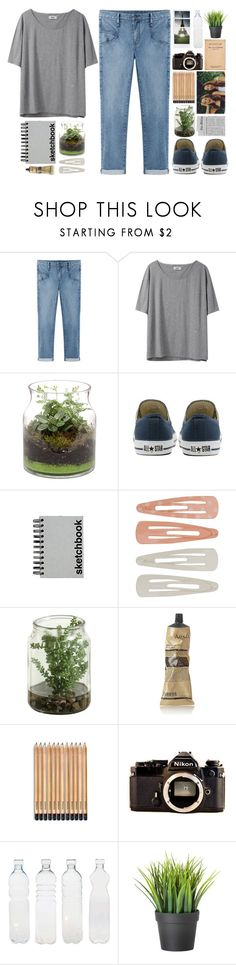 """DAY WEAR"" by bellasmithx ❤ liked on Polyvore featuring Helmut by Helmut Lang, Acne Studios, Converse, Paperchase, Forever 21, Aesop, Coffee Shop, Nikon, Polaroid and Seletti"