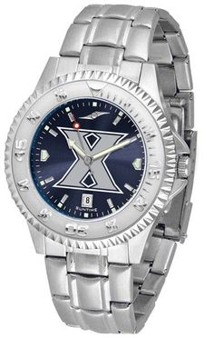 Xavier Musketeers Men's Competitor Steel Watch With AnoChome Dial