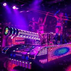 Tokyo ロボットレストラン robot restaurant (18+). It's really more a show place than a restaurant, but it has food if you need. :)