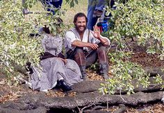Matthew McConaughey waves from the New Orleans set of his new Civil War drama The Free State of Jones on Tuesday, Feb. 24.