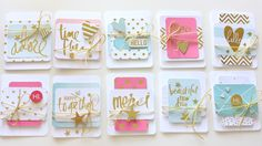 Time to Create ...: New Publication - Heidi Swapp Cards made using Project Life Product