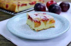 Plum Coffee Cake - I used pluots, substituted yogurt for sour cream, & added a streusel topping.  Very moist & yummy.