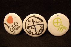 "Géocache bouton Badge 2,25"" Pinback ~ j"