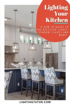 Lighting ideas for the kitchen. Save this for your kitchen design plan #kitchenlighting #kitchenideas #kitchenlightingideas Interior Lighting, Home Lighting, Lighting Ideas, Interior Decorating Tips, Design Your Kitchen, Kitchen Lighting Fixtures, Under Cabinet Lighting, Home Improvement Projects, Easy Projects