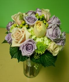 green and lavender
