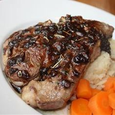 """Lamb Chops with Balsamic Reduction 