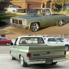 trucks and cars 85 Chevy Truck, Classic Chevy Trucks, Chevrolet Trucks, Chevy 4x4, Classic Cars, Lowrider Trucks, C10 Trucks, Pickup Trucks, Dropped Trucks