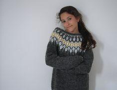 Ravelry: Telja pattern by Jennifer Steingass Knit Cardigan Pattern, Jumper Patterns, Knitting Patterns, Knitting Ideas, Icelandic Sweaters, I Cord, Knit In The Round, British Royal Families, Mosaic Patterns