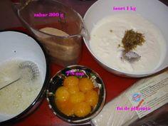 Placinta cu Iaurt - Retete in imagini - Culinar.ro Forum Pudding, Desserts, Food, Tailgate Desserts, Deserts, Eten, Puddings, Postres, Dessert
