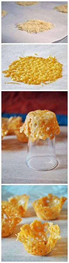 RECIPE/HOW TO - PARMESAN CUPS (Source : http://www.shellieideas.com/food-recipes/parmesan-cups/)