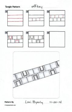 Tangle Pattern by Lori Byerly. Tangle Doodle, Tangle Art, Zen Doodle, Doodle Art, Zentangle Drawings, Doodles Zentangles, Doodle Drawings, Doodle Patterns, Zentangle Patterns