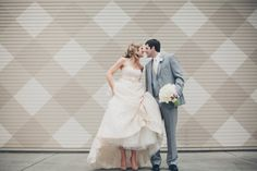 Mr. and Mrs and a really cute gingham backdrop  Photography By / lovetheschultzes.com