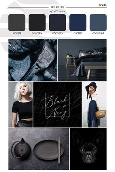 Top ColorWall™ Colors of All Time | Black & Navy – eColorWorld All About Time, Black And Navy, Black Tops, Color Trends, Navy Color, Season Colors, Hue, Neutral, Design
