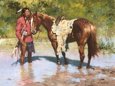 Howard Terpning - Deeds of His Father - Native American Plains Print Native American Models, Native American Artwork, American Indian Art, American Indians, Native Indian, Native Art, Navajo, Howard Terpning, Eskimo