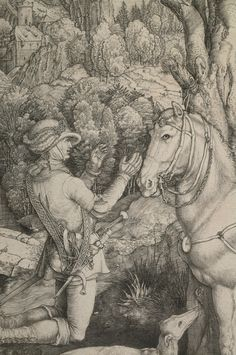 St Eustace (detail), Albrecht Durer, 1501. Presented to the collection of Birmingham Art Gallery by the Public Picture Gallery Fund in 1905 #bmag130