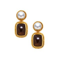 Camden Earring in Pearl/Smoky Topaz by Julie Vos. Available at Splurge. 704.370.0082