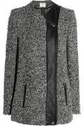 IRO|Derby leather-trimmed bouclé jacket|NET-A-PORTER.COM