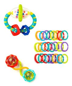 Take a look at this Green Playtime Fun Teething Set by Bright Starts on #zulily today!