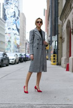 Classic Glen Plaid Coat | MEMORANDUM | NYC Fashion & Lifestyle Blog for the Working Girl