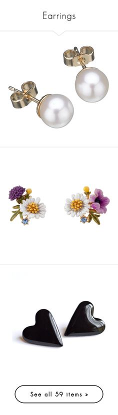 """""""Earrings"""" by hershyeststylist ❤ liked on Polyvore featuring jewelry, earrings, accessories, brincos, gioielli, women's jewellery, earring jewelry, pearl earrings jewellery, pearl stud earrings and stud earrings"""
