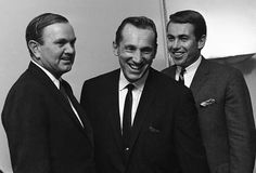 Seen here in April 1966, Ralph Wilson, left, American Football League president and Buffalo Bisons owner, Al Davis, center, and Jack Kemp, Bisons quarterback and the league's player representative, are shown at a news conference in New York. Davis held the title of AFL commissioner in 1966 while also coaching and running the Raiders. He only held the title for several months but he was known as a driving force to the eventual merger of the AFL and the NFL.